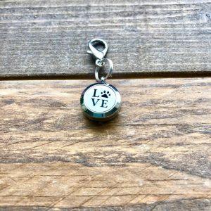 Dog Love Plain Keychain Locket