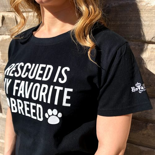 t-shirt rescued is my favorite breed