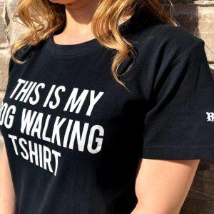 t-shirt this is my dog walking t-shirt